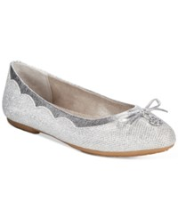 White Mountain Cece Metallic Flats Women's Shoes Silver
