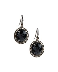 Bavna Champagne Diamond And Spinel Oval Drop Earrings