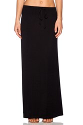 Splendid Tie Waist Maxi Skirt Black