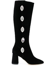 Giannico Julie Embellished Button Boots 60
