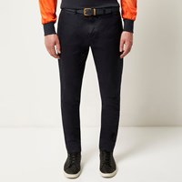 Lou Dalton River Island Mens Navy Panel Side Trousers