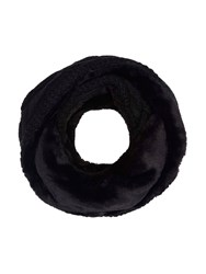 Yumi Faux Fur Chunky Knitted Snood Black