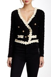 Gracia Embroidered Cropped Jacket Black