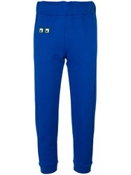 Fendi Square Eye Track Pants Blue