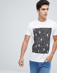 Solid T Shirt With Urban Legends Print White
