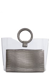 Vince Camuto Clea Faux Leather Tote Metallic Anthracite