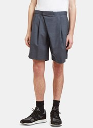 Kolor Wrap Over Shorts Grey