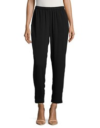 Vince Camuto Pleated Tapered Ankle Pants Black
