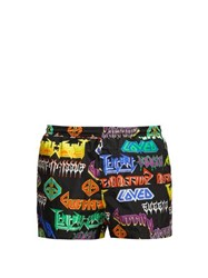 Gucci Mix Metal Logo Print Swim Shorts Black Multi