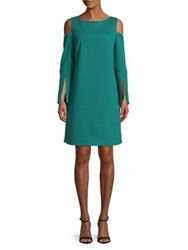 Imnyc Isaac Mizrahi Cold Shoulder Dress Teal Green