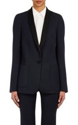 Pallas Satin Trimmed Tuxedo Jacket Blue