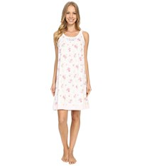 Carole Hochman Floral Chemise Rose Meadow Women's Pajama White
