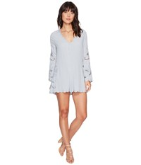 Astr The Label Genevieve Romper Dusty Blue Women's Jumpsuit And Rompers One Piece