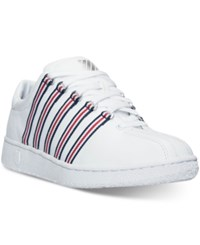 K Swiss Men's Classic Ul Webbing Casual Sneakers From Finish Line White Dress Blue Red
