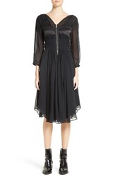 Belstaff Women's Herriot Ruched Silk Georgette Dress