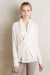 Anthropologie Infini Cashmere Pullover Ivory