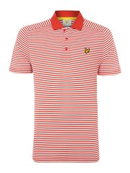 Lyle And Scott Men's Golf Hawick Technical Polo Shirt Red