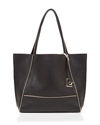 Botkier Soho Heavy Grain Pebbled Leather Tote Black Gold
