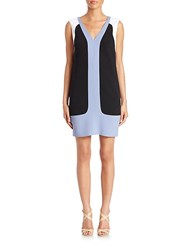 Aquilano Rimondi V Neck Colorblock Dress Black Perwinkle