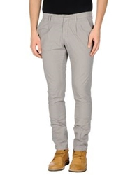 Manuel Ritz White Casual Pants Grey