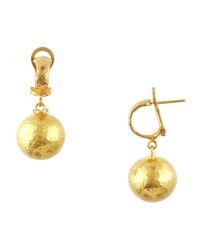 Dome 24K Gold Ball Drop Earrings Gurhan