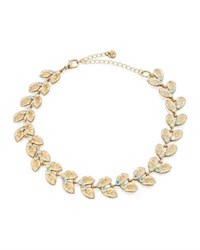 Lydell Nyc Crystal Leaf Choker Necklace Multi