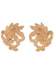 Yves Saint Laurent Vintage 'Venise' Earrings Metallic