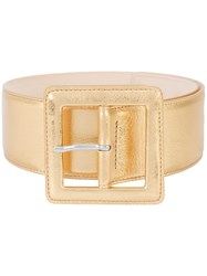 Barbara Bui Oversized Buckle Belt Metallic