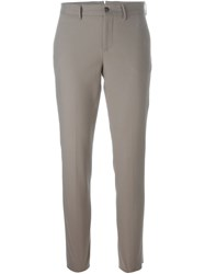 Pt01 Slim Tailored Trousers Grey
