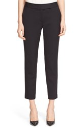 Milly Women's Stretch Wool Skinny Ankle Pants Black
