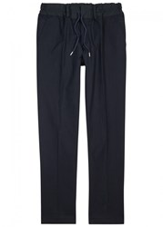 Casely Hayford Hungerford Seersucker Cotton Trousers Navy