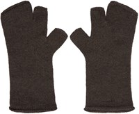 Attachment Grey Wool Fingerless Gloves