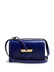 Loewe Barcelona Small Leather Cross Body Bag Blue
