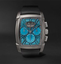 Parmigiani Fleurier Kalpagraphe Limited Edition Chronograph 48Mm Titanium And Rubber Watch Blue