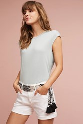Anthropologie Bubbled Shell Top Sky