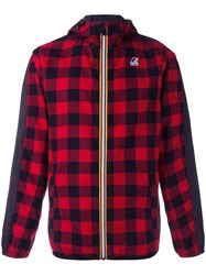 N 21 No21 Checked Hooded Jacket Red
