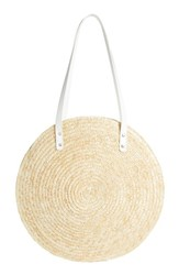 Bp. Circle Basket Tote Bag Beige Natural