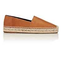 Balenciaga Women's Square Toe Leather Espadrilles Beige
