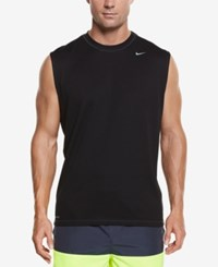 Nike Men's Hydro Performance Upf 40 Swim Shirt Black