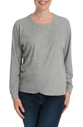 Bun Maternity Tulip Front Nursing Sweatshirt Heather Gray