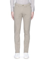 Lardini Slim Fit Cotton Twill Chinos Neutral