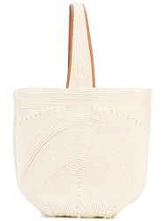 Ermanno Scervino Woven Rope Tote Women Cotton Polyester One Size Nude Neutrals
