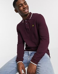 Lyle And Scott Long Sleeve Tipped Polo Shirt Red