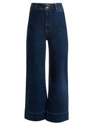 Apiece Apart Merida High Rise Cropped Jeans Navy