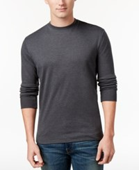 John Ashford Men's Big And Tall Interlock Crew Neck T Shirt Only At Macy's Charcoal