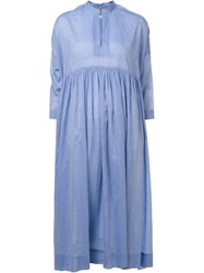 Arts And Science Pleated Flared Dress Blue