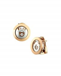 Chopard Happy Spirit 18K Two Tone Diamond Circle Earrings