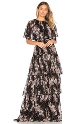 Needle And Thread Prairie Rose Gown Black