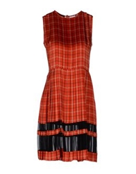 Jonathan Saunders Knee Length Dresses Red