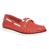 Lotus Silverio Leather Boat Shoes Red